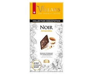 Villars Dark Chocolate Bar with Almonds 100g