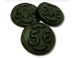 Dutch Liquorice Coins 250g